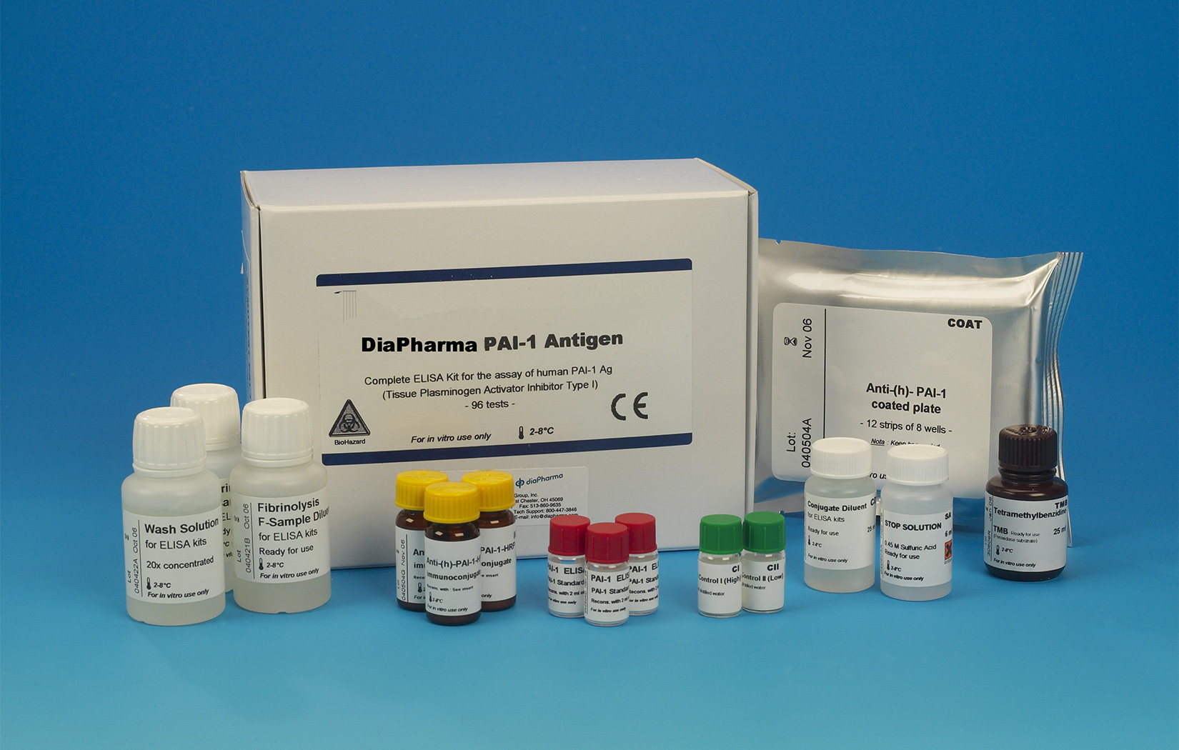 PAI ELISA assay test kit Plasminogen activator inhibitor