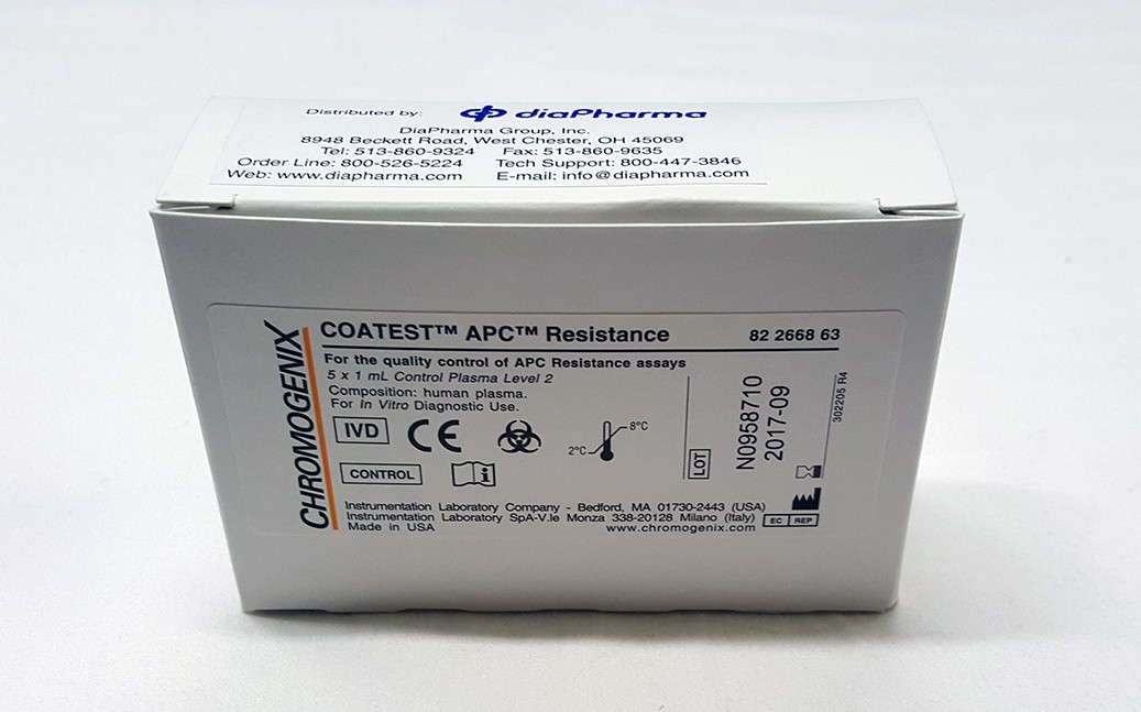chromogenix coatest APC resistance clotting control assay test kit