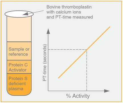 Protein S assay test kit