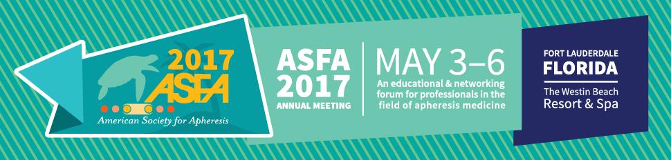 American Society for Apheresis (ASFA) 2017 Annual Meeting - Diapharma