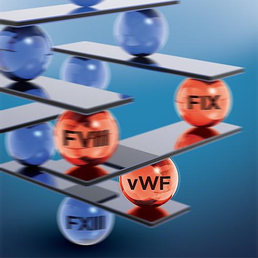 Hemophlia ELISA assay test kit biomarker VWF von Willebrand Factor