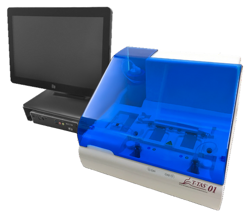 T-TAS® 01 FDA cleared microfluidic flow chamber analyzer